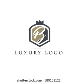 Luxury letter B logo design.