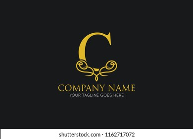 luxury letter c logo, icon, symbol