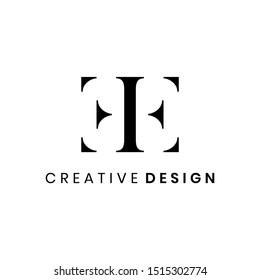 Luxury letter EE logo design vector template
