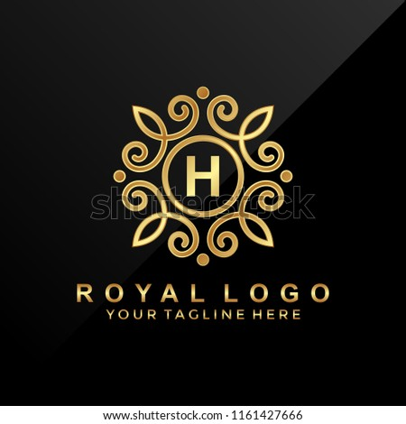 19e4e135e3d Luxury Letter H Logo Design Stock Vector (Royalty Free) 1161427666 ...