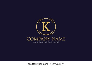 luxury letter k logo, icon, symbol design template