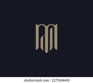 luxury letter MD logo designs element