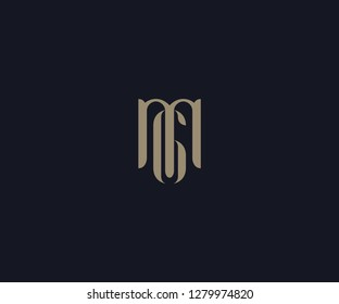 luxury letter MG logo designs element
