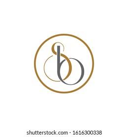 Luxury Letter SB simple logo icon design vector