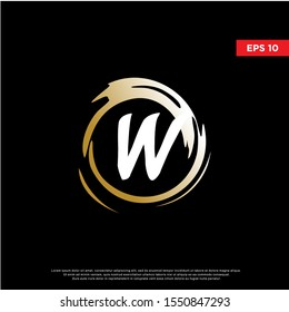 luxury letter w inside enzo zen logo. modern icon, template design