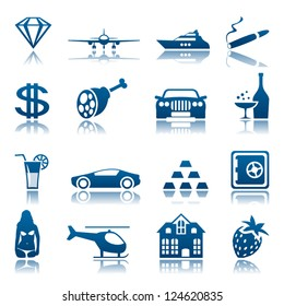 Luxury life icon set