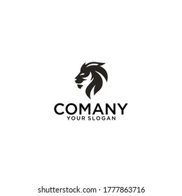 Luxury lion logo vector icon, or also the lion's head silhouette , perfect for the icon or also the logo.