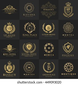 Luxury logo collection,Design for Boutique hotel,Resort,Restaurant, Fashion brand identity.
