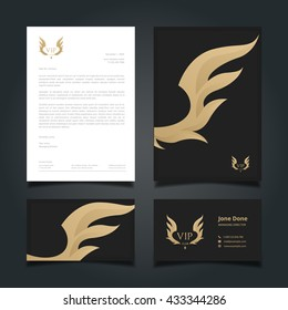 Luxury Logo, Letter head, Book cover, Business card set for restaurant, hotel, cafe or other businesses