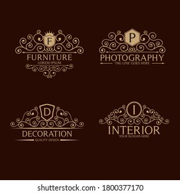 Luxury Logo Set in vector for Furniture , Photography , Decoration , Interior .