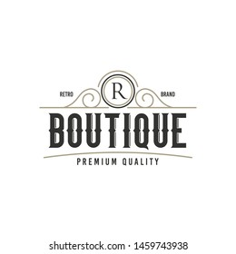 Luxury Logo template flourishes calligraphic elegant ornament lines. identity for Restaurant, Royalty, Boutique, Cafe, Hotel, Heraldic, Jewelry, Fashion and other vector illustration