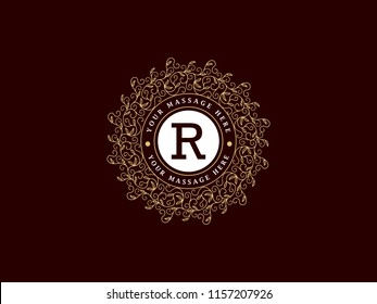 Luxury Logo template in vector for Restaurant, Royalty, Boutique, Cafe, Hotel, Heraldic, Jewelry, Fashion and other vector illustration