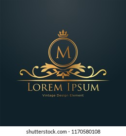 Luxury Logo template in vector for Restaurant, Royalty, Boutique, Cafe, Hotel, Heraldic, Jewelry, Fashion and other vector illustration. EPS 10.