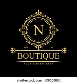 Luxury Logo template in vector for Restaurant, Royalty, Boutique, Cafe, Hotel, Heraldic, Jewelry, Fashion and other businesses.