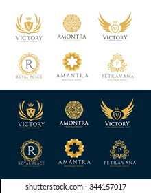 Luxury Logos design collection for Restaurant, Royalty, Boutique, Hotel, Heraldic, Jewelry, Fashion and other vector illustration
