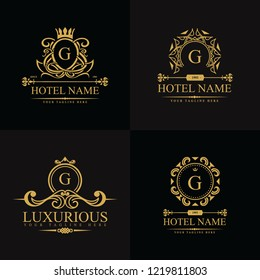 Luxury Logos template in vector for Restaurant, Royalty, Boutique, Cafe, Hotel, Heraldic, Jewelry, Fashion and other vector illustration