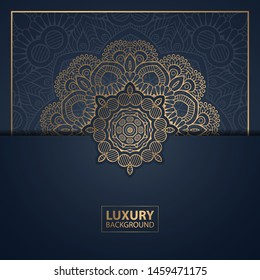 Luxury mandala background for book cover, wedding invitation, or other project.