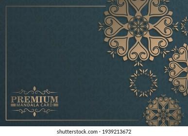 Luxury mandala background concept design