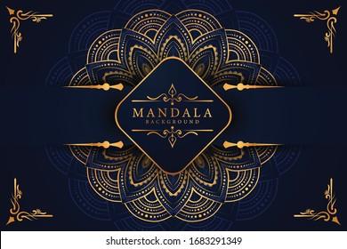 Luxury mandala background with golden arabesque pattern Arabic Islamic east style. Decorative mandala for print, poster, cover, brochure, flyer, banner