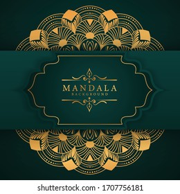 Luxury mandala background with golden arabesque pattern Arabic Islamic east style. Ramadan Style Decorative mandala. Mandala for print, poster, cover, brochure, flyer, banner
