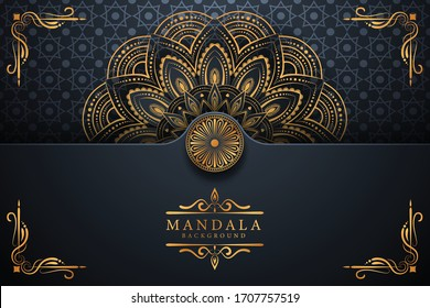 Luxury mandala background with golden arabesque pattern Arabic Islamic east style. Ramadan Style Decorative mandala. Mandala for print, poster, cover, brochure, flyer, banner