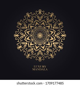 luxury mandala design background in gold color perfect to background, business card, wedding invitation, banner, wallpaper, logo, pettern, template etc.