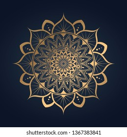 luxury mandala .gold color