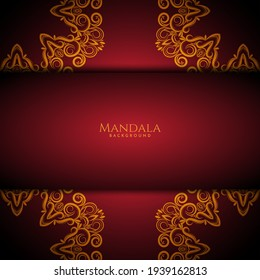 Luxury mandala gold colorwith stylish background vector