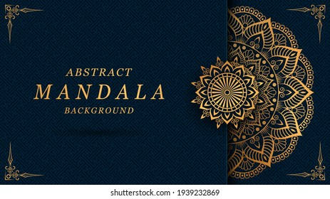 luxury mandala with gorgeous arabesque pattern style background for cover, card, poster, print, banner, brochure