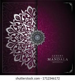 Luxury Mandala Islamic Background with Arabesque Pattern, Ornamental Background . Wedding card, Cover.