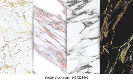 Luxury Marble background texture With gold and rose gold style vector