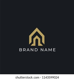luxury minimal home logo template. Property and Construction icon vector