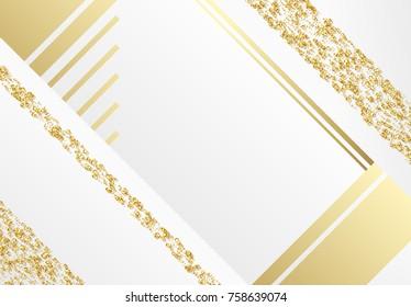 Luxury modern abstract gold background vector design. Golden minimal pattern. Fashion art illustration