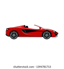 Luxury modern convertible car vector