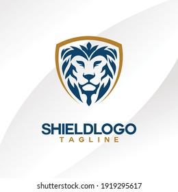 luxury and modern shield vector logo