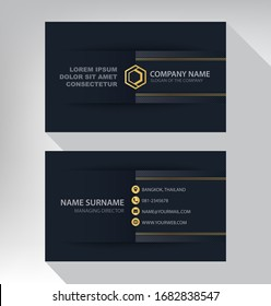 Luxury and modern. vector business card template. design black and gold color