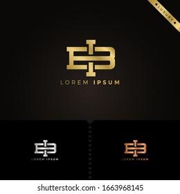 Luxury Monogram Letter bi logo design template elements for Company Group