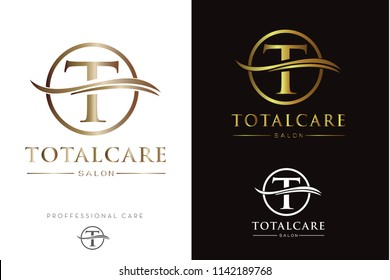 Luxury Monogram T in circle Logo/Icon