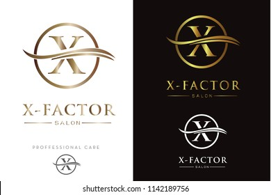 Luxury Monogram X in circle Logo/Icon
