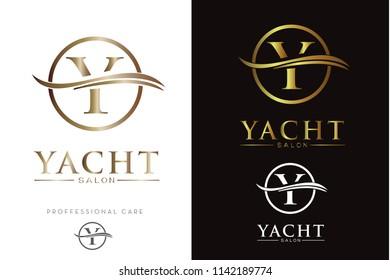 Luxury Monogram Y in circle Logo/Icon
