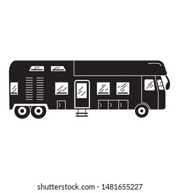 Luxury motorhome icon. Simple illustration of luxury motorhome vector icon for web design isolated on white background