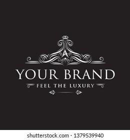 Luxury ornament logo