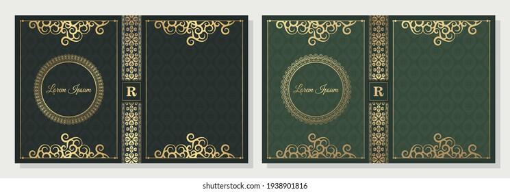 Luxury ornamental book cover design