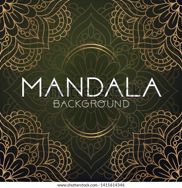 Luxury Ornamental Mandala Design Background Gold