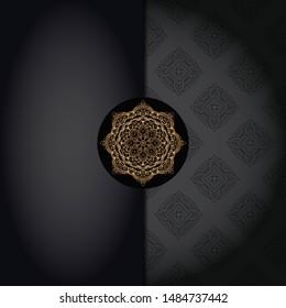Luxury ornamental mandala design. Vector template card.