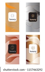 Luxury packaging design set isolated on white background.For web site,cover template,promo and luxury product.Useful for ads,marketing,poster and placard design.Creative modern art,vector illustration