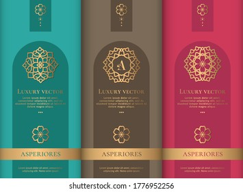 Luxury packaging design. Vintage vector ornament template. Elegant, classic elements. Great for food, drink and other package types. Can be used for background and wallpaper.