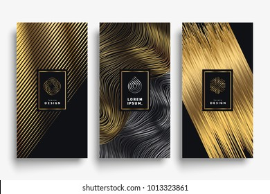 Luxury packaging templates. Eps10 vector.