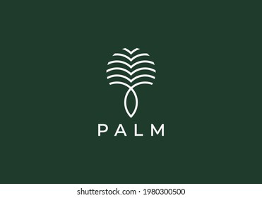 Luxury Palm Logo Template Vector