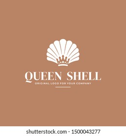 Luxury Pearl Shell Jewelry logo design template. Creative jawelry logo design inspiration. can be used as symbols, brand identity, company logo, icons, or others. Color and text can be changed.